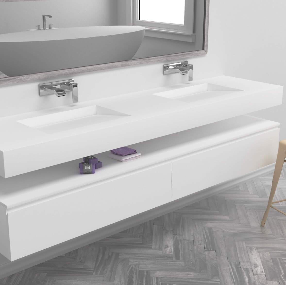 Double Sink Basins