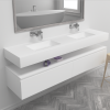 Texas - DuPont™ Corian® Wall Mounted Double Washbasin