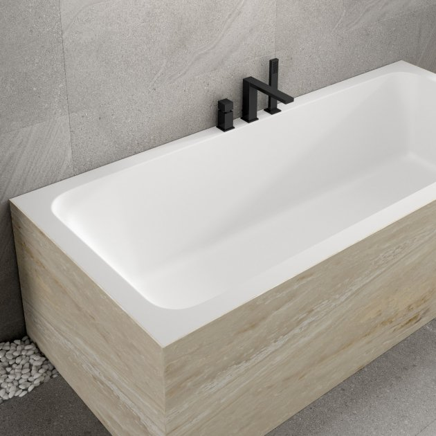 B-Round - Built-in DuPont™ Corian® Bathtub - 3 Panels