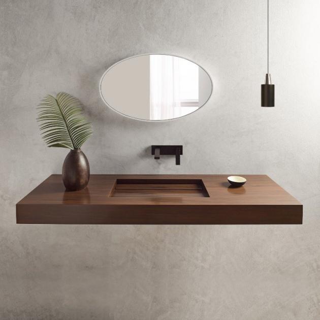 Corian® Colour Alabama - Wall Mounted Washbasin