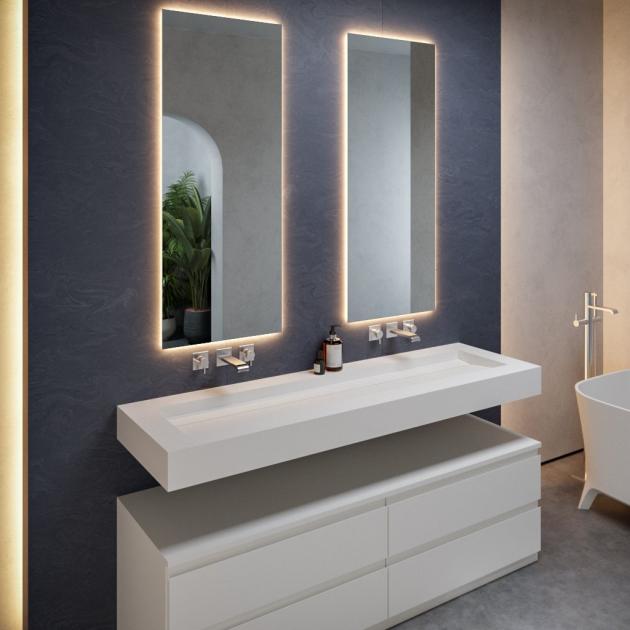 Alabama Plus - DuPont™ Corian® Wall Mounted Washbasin