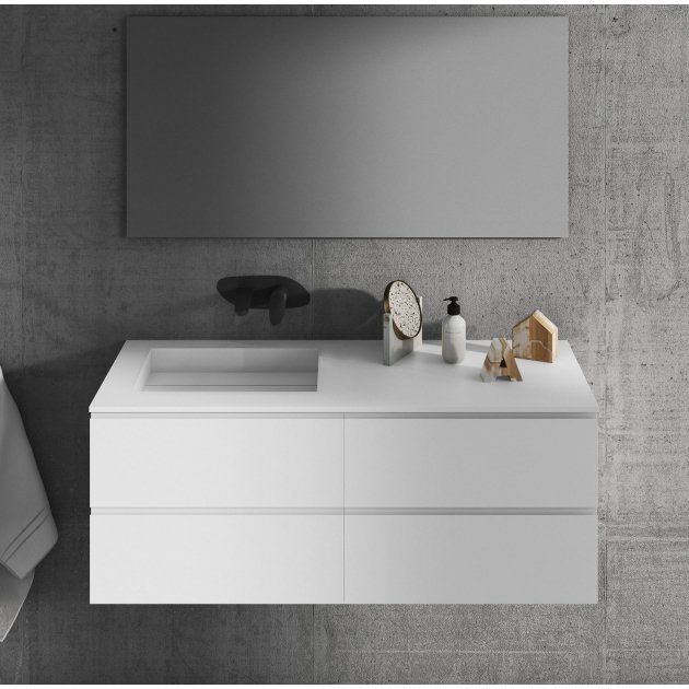 Alabama - Wall Mounted DuPont™ Corian® Vanity Unit