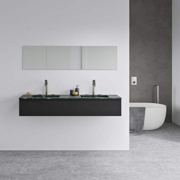 Alabama Verde Dicalio - Marble Vanity Top Double Washbasin