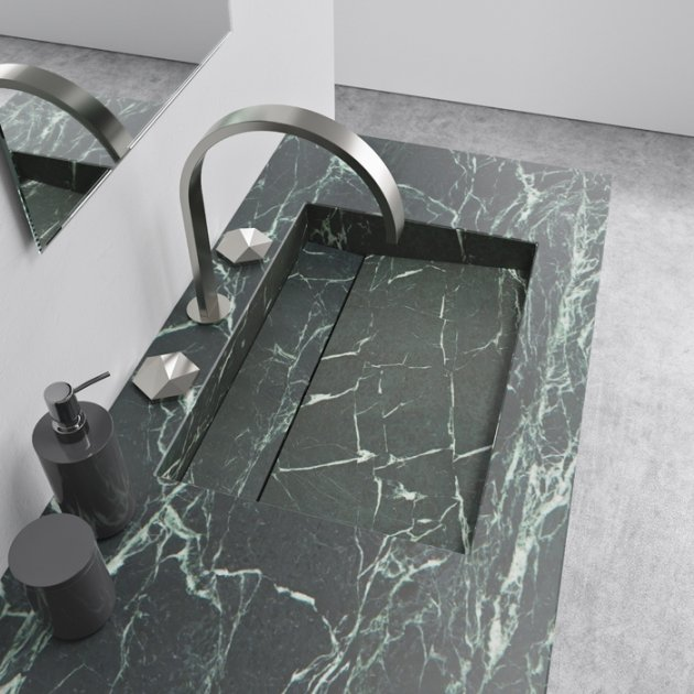 Alabama Verde Dicalio - Marble Vanity Top Washbasin