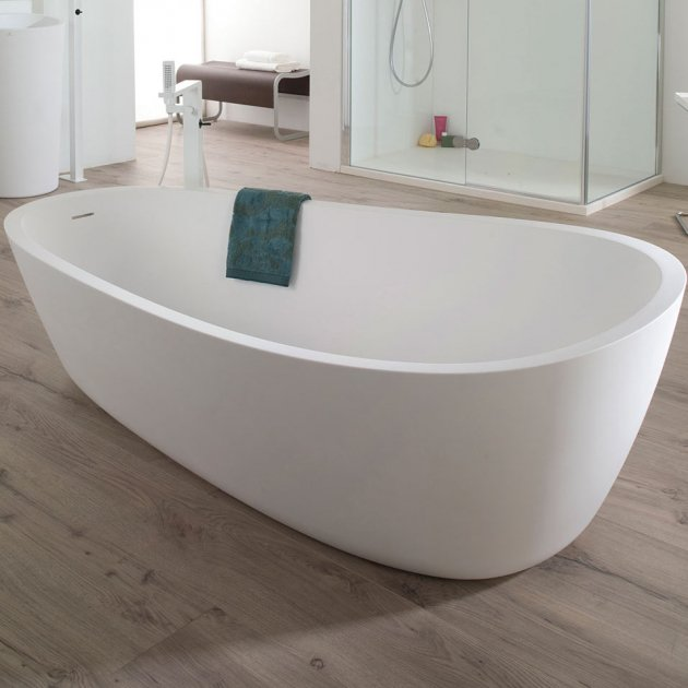 Almond - Freestanding Solid Surface Bathtub