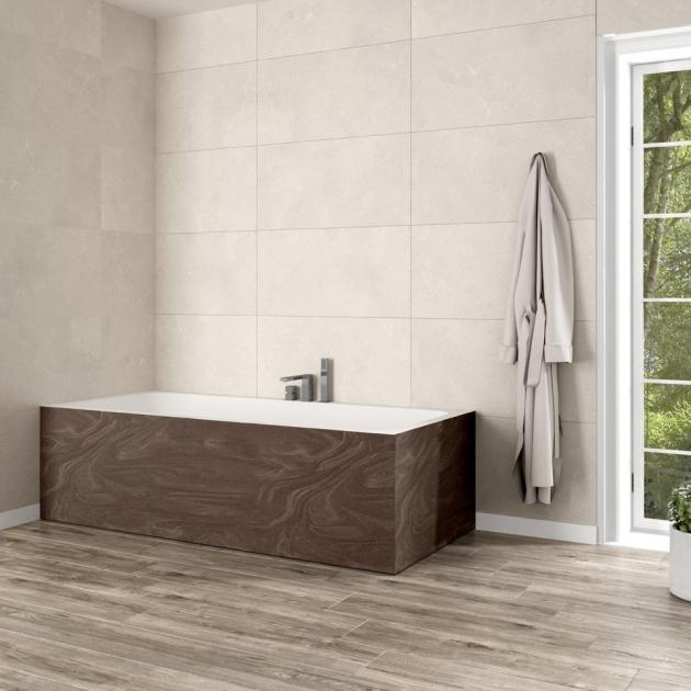 B-Round - Built-in DuPont™ Corian® Bathtub - 2 Panels