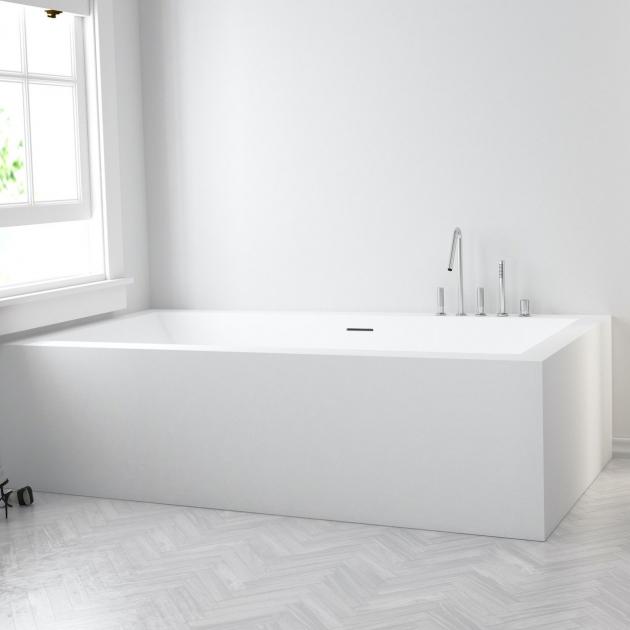 B-Flat - Built-in DuPont™ Corian® Bathtub - 2 panels
