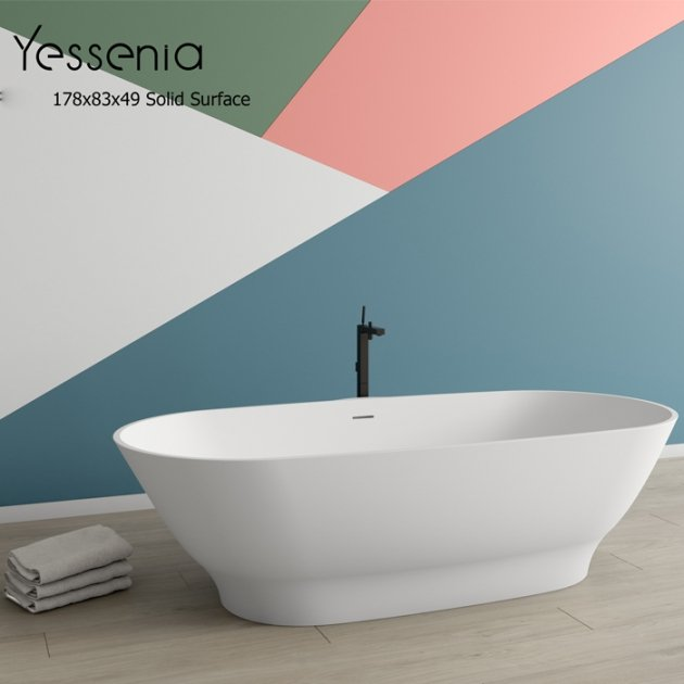 Berkley - Freestanding Solid Surface Bathtub