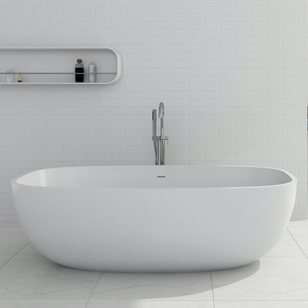 Biarritz  - Freestanding Solid Surface Bathtub 170cm