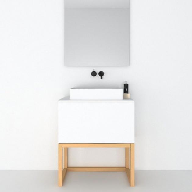 Combi Steel Base - Freestanding MDF Vanity Cabinet 1 Drawer