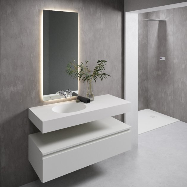 Calm - DuPont™ Corian® Wall Mounted Washbasin