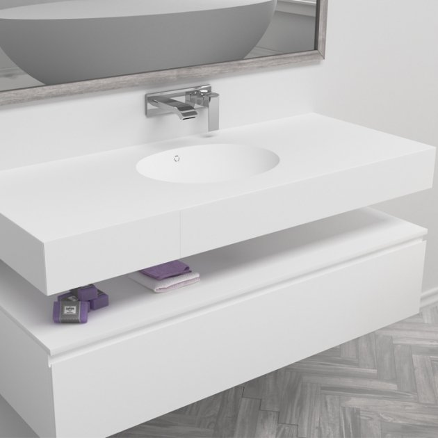 Calm - DuPont™ Corian® Wall Mounted Washbasin