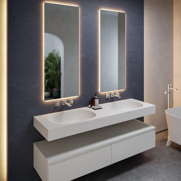 Care - DuPont™ Corian® Wall Mounted Double Washbasin