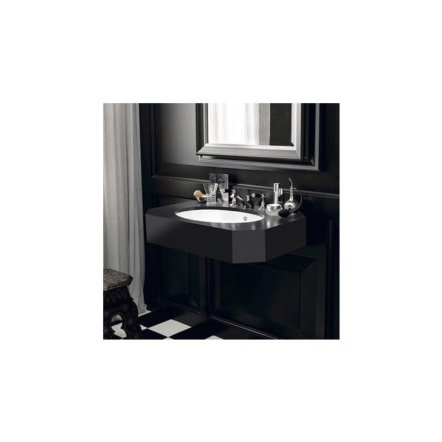 Contemporary Black - DuPont™ Corian® Wall Mounted Washbasin