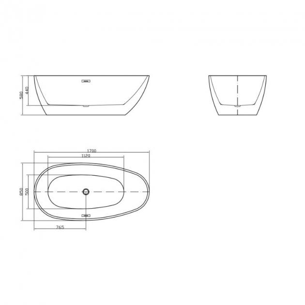 EGG - Freestanding Acrylic Bathtub 170cm