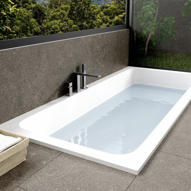 B-Round - Built-in DuPont™ Corian® Bathtub - Integrated