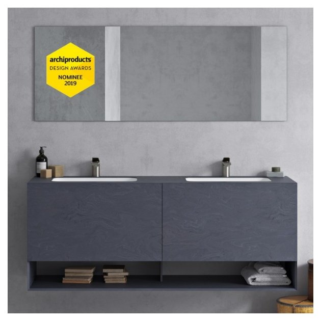 Colours Evening Prima Carthage Excelsior - DuPont™ Corian® Wall Mounted Vanity Unit