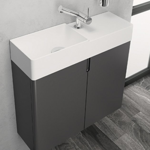 Fancy 2 - Wall Mounted Mineral Solid Vanity Unit
