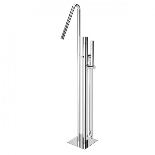 Floor Mounted Single Lever Bathtub Tap - 1010702CR