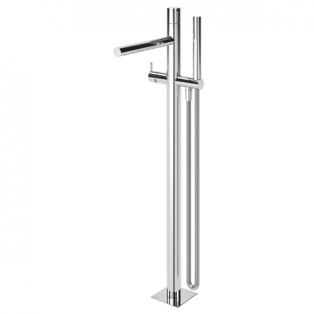 Floor Mounted Single Lever Bathtub Tap - 1018002CR