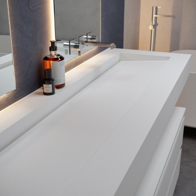 Georgia - DuPont™ Corian® Wall Mounted Washbasin