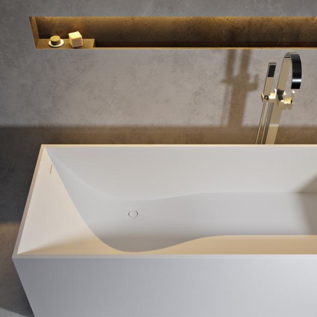 La Turbie 158cm - Freestanding Solid Surface Bathtub