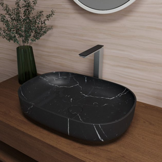 Nero Marquina - Marble Counter Top Washbasin
