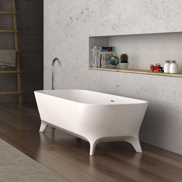 Lofty 180cm - Freestanding Solid Surface Bathtub
