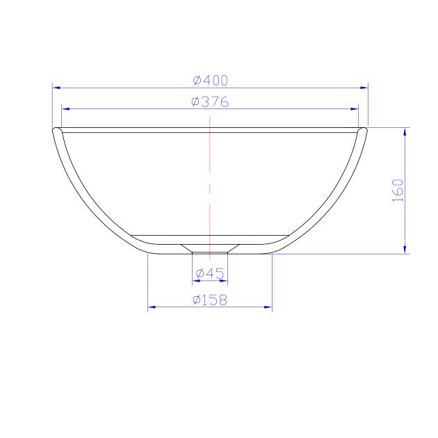 Lotus - Solid Surface Counter Top Washbasin