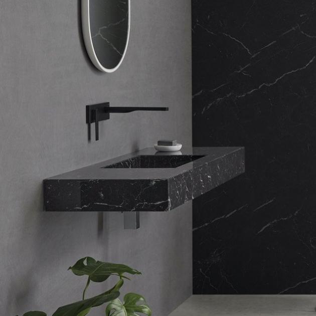 Marquina C1 - Marble Wall Mounted Washbasin