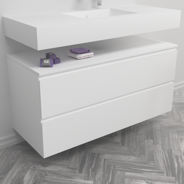 Modulo - Wall Mounted MDF Bathroom Cabinet