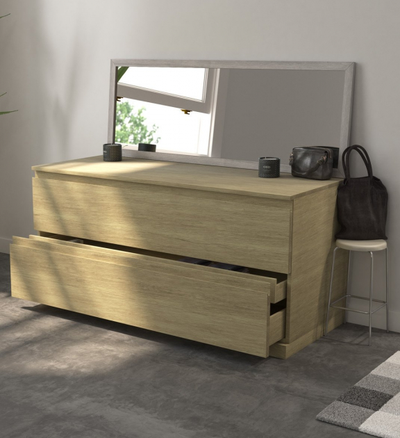 Modulo Wood - Wall Mounted Solid Oak Bathroom Cabinet