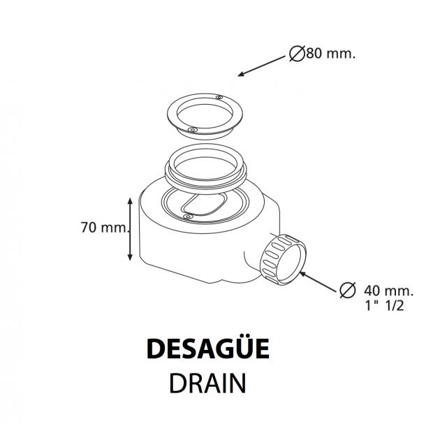 Munich - DuPont™ Corian® Raised Shower Tray 160x80