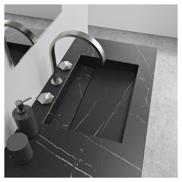Alabama Nero Marquina - Marble Vanity Top Double Washbasin