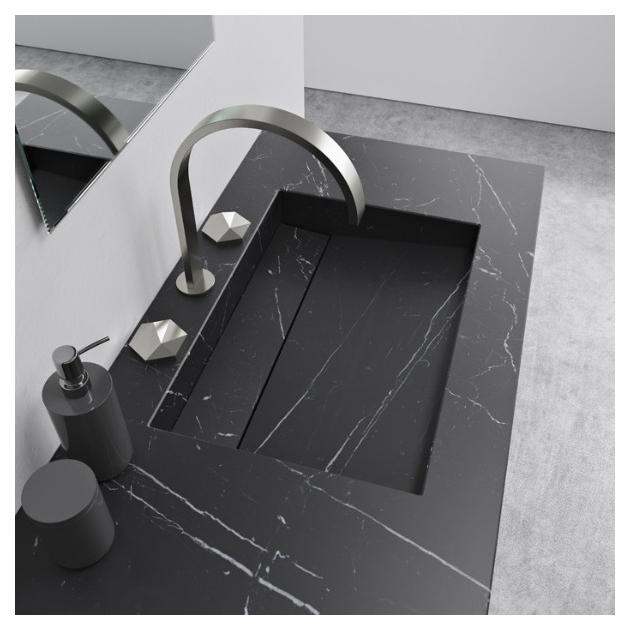Alabama Nero Marquina Vanity Top - Marble Double Washbasin