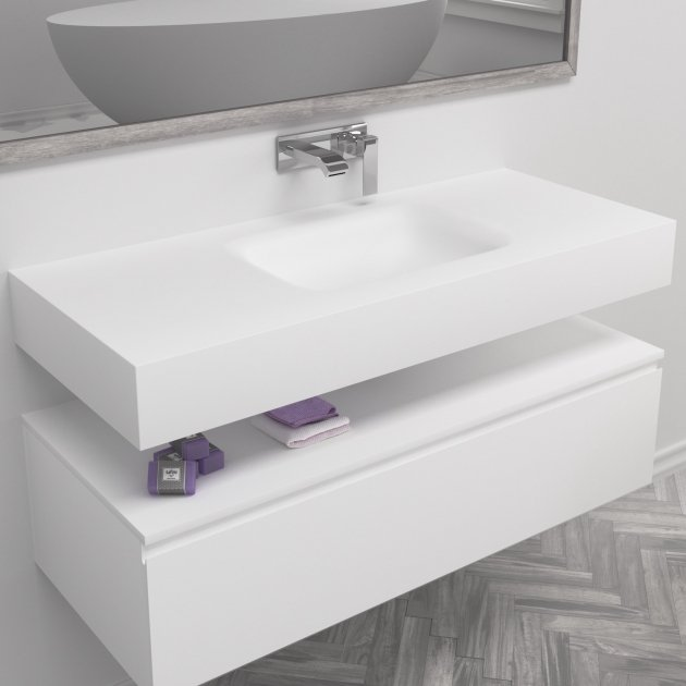 Nevada - DuPont™ Corian® Wall Mounted Washbasin