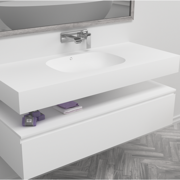 Peace - DuPont™ Corian® Wall Mounted Washbasin