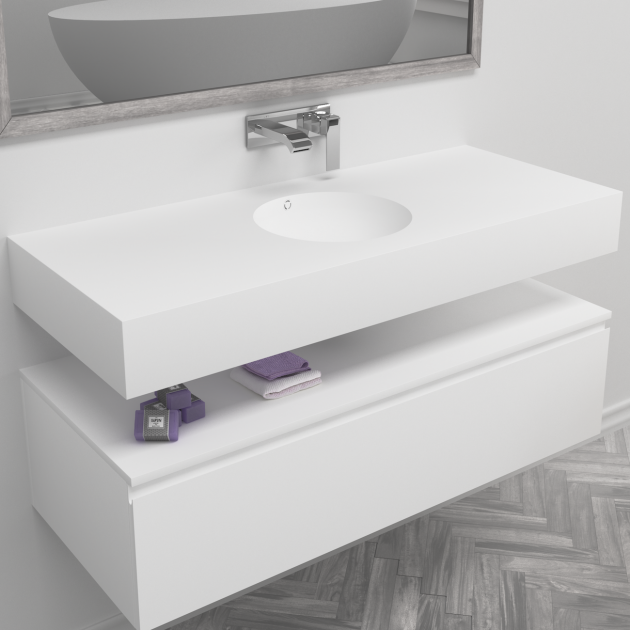 Purity - DuPont™ Corian® Wall Mounted Washbasin