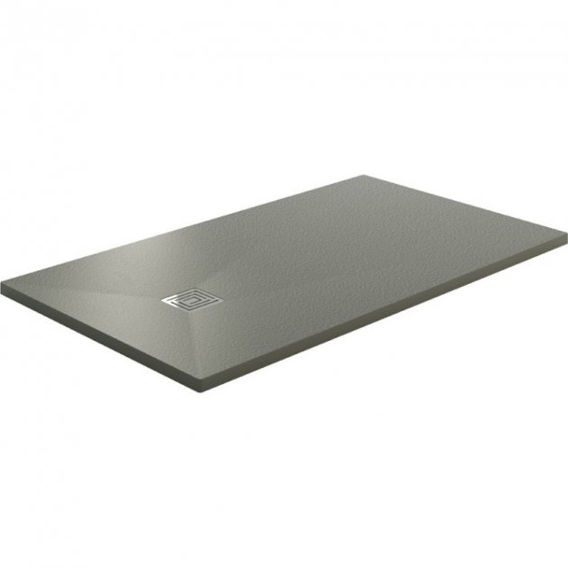 Lyon - Gel Coat Ultra Slim Stone Texture Shower Tray
