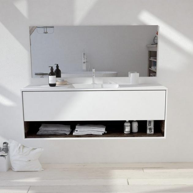 Refresh Carthage - Wall Mounted DuPont™ Corian® Vanity Unit 1 drawer