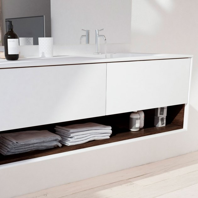 Refresh Carthage - Wall Mounted DuPont™ Corian® Vanity Unit