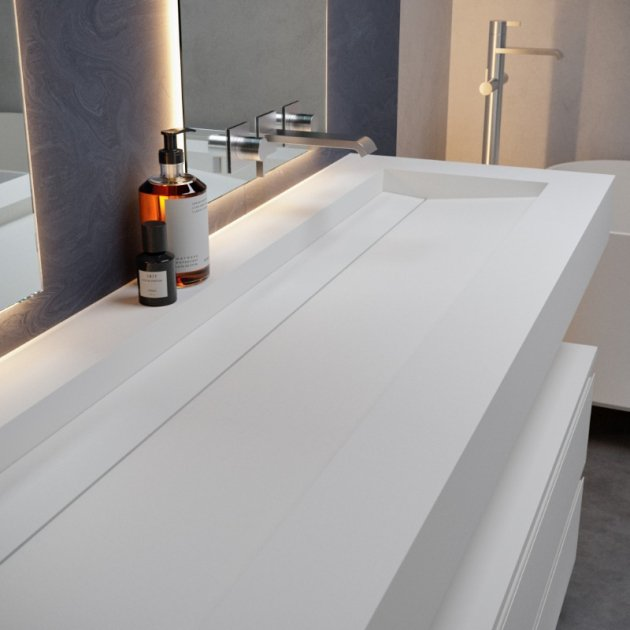 Alabama Plus - DuPont™ Corian® Wall Mounted Washbasin