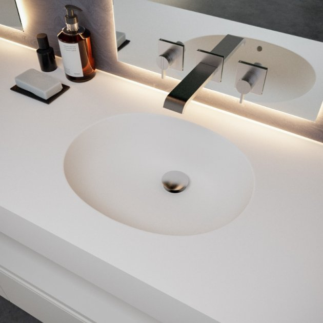 Calm - DuPont™ Corian® Wall Mounted Double Washbasin