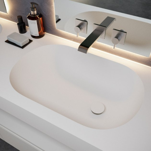 Care - DuPont™ Corian® Wall Mounted Double Washbasin