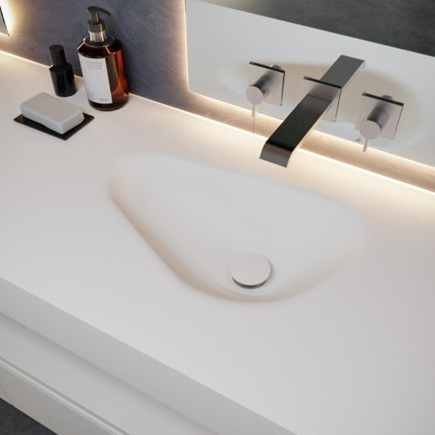 Phoenix - DuPont™ Corian® Wall Mounted Double Washbasin