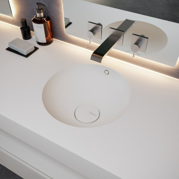 Purity - DuPont™ Corian® Wall Mounted Double Washbasin