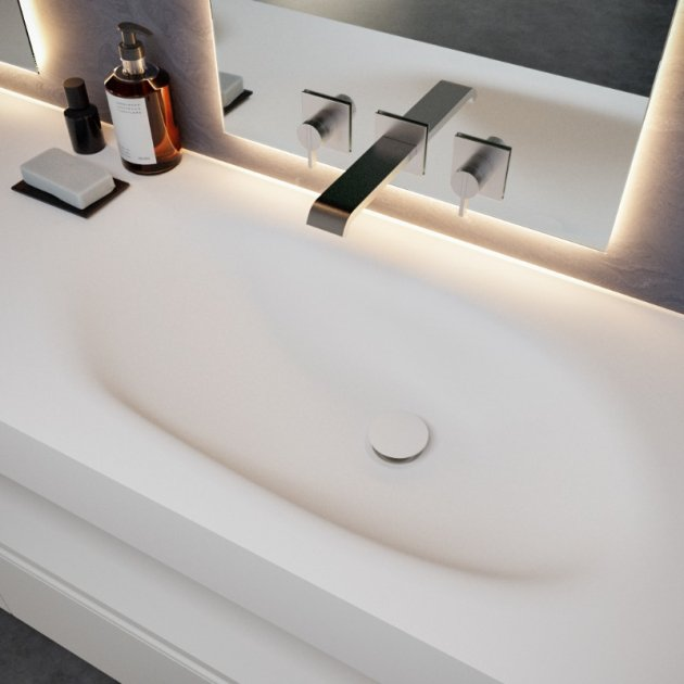 Springfield - DuPont™ Corian® Wall Mounted Double Washbasin