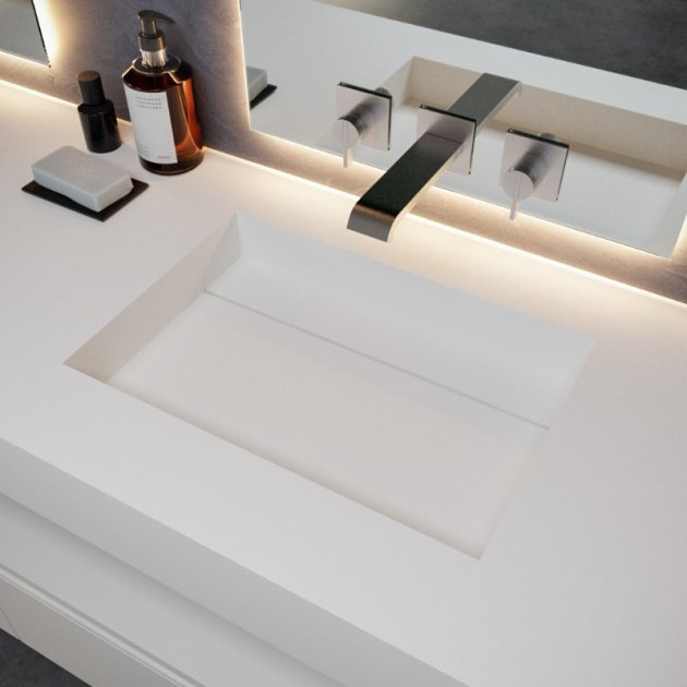 Texas - DuPont™ Corian® Wall Mounted Washbasin