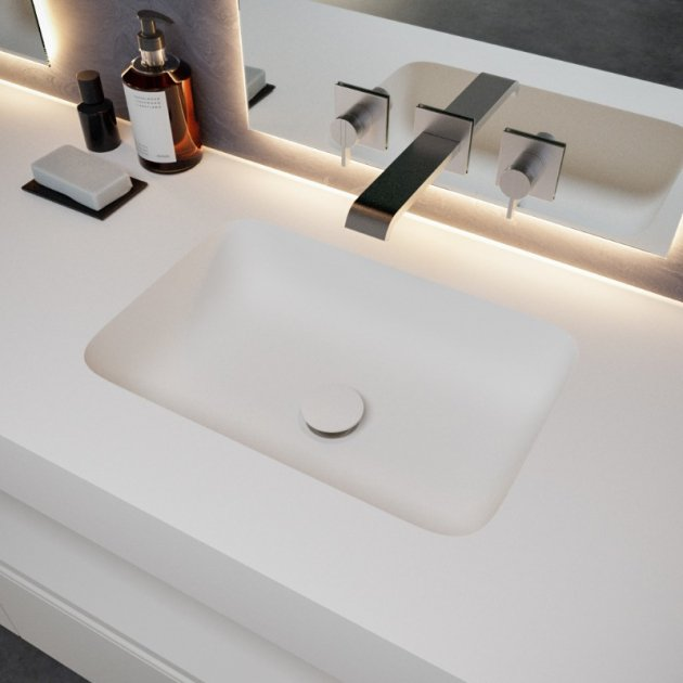 Toronto - DuPont™ Corian® Wall Mounted Double Washbasin