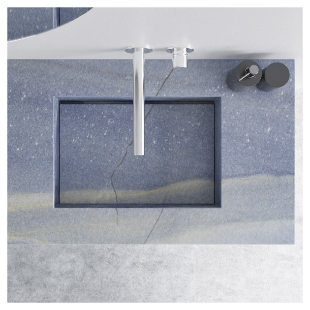Blue Macauba Marble Seattle Wall Mounted Washbasin